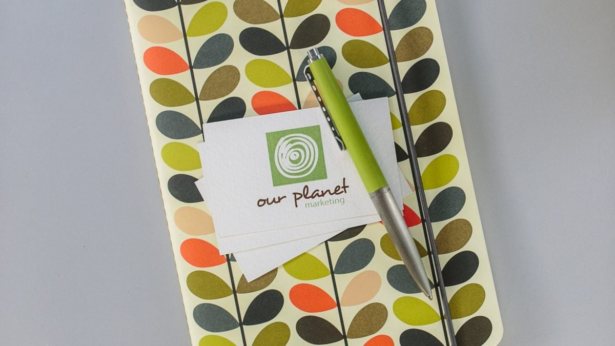 Our Planet Marketing logo and graphic design